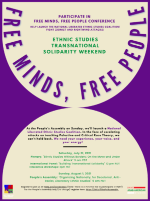 Read more about the article Defend CRT and Ethnic Studies! Join our People's Assembly!